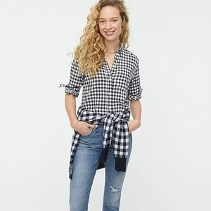 J.Crew classic boy fit shirt in crinkle gingham
